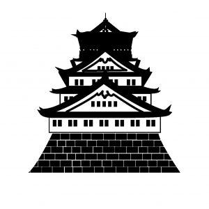 大阪城 シルエットフリー素材